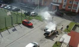 В Летнем проезде в Калининграде загорелась «Ауди»
