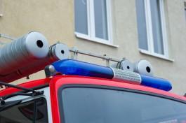 Ночью на улице Великолукской в Калининграде горел автомобиль