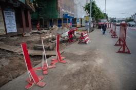«Кто в лес, кто по дрова»: как ремонтируют тротуары в центре Калининграда