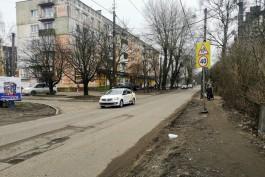«Головная боль пешеходов»: как выглядит улица Карташева в Калининграде перед реконструкцией