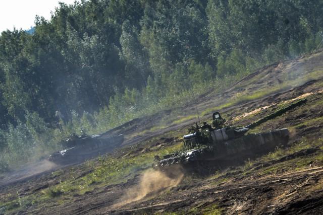 Научениях «Запад-2017» задействовали новейшую модификацию танка Т-72Б3