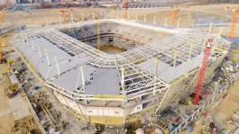 В Калининграде завершили монтаж крыши стадиона к ЧМ-2018