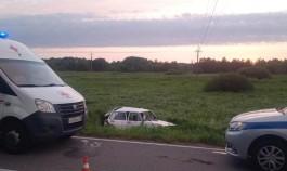 На трассе Калининград — Балтийск «Фольксваген» вылетел в кювет: пострадал водитель
