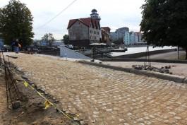 Мэрия: На подходах к Медовому мосту в Калининграде меняют «буханку» на «шашечку»