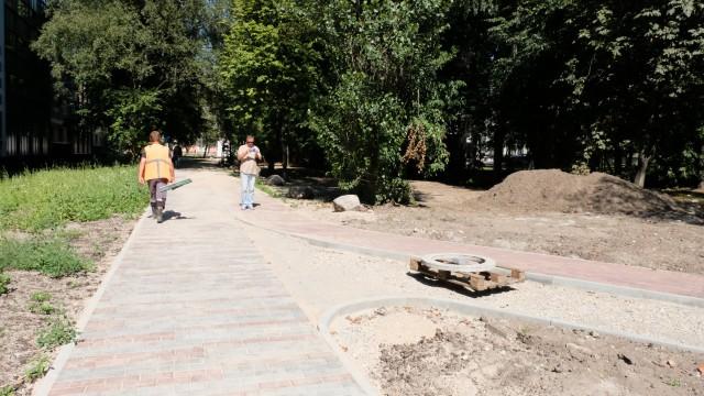 В Калининграде строят велодорожку от СК «Юность»