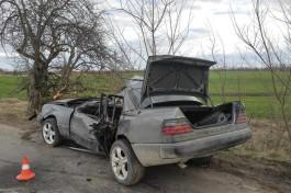 Под Озёрском «Мерседес» врезался в дерево: погибли водитель и пассажир