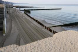 Установку бун на пляже в Светлогорске планируют завершить к апрелю 2020 года