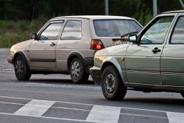 В Калининграде супруга водителя разбила машину «нахамившего автомобилиста»