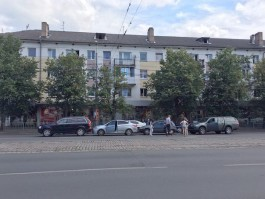 В центре Калининграда столкнулись четыре автомобиля