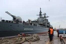 Завод «Янтарь» вернул Балтфлоту эсминец «Беспокойный» после ремонта