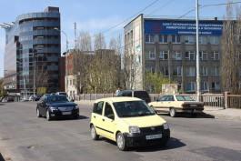С 3 апреля из-за ремонта моста введут одностороннее движение на участке улицы Озерова