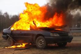 Ночью в Калининградской области сгорели два автомобиля