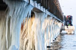 «Доморощенные сталактиты»: как выглядело в мороз калининградское побережье