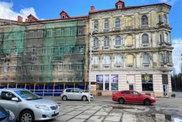 В Калининграде начали капитально ремонтировать историческое здание на пересечении Фрунзе — Грига