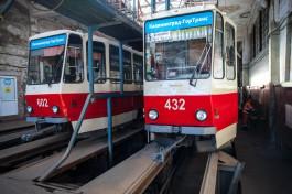 «Калининград-ГорТранс» готовит новые опоры для трамвая на проспекте Мира