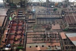 На верфи в Светлом строят платформу для освоения газового месторождения в Арктике