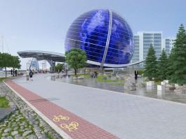 Подрядчик обещает закончить остекление шара Музея Мирового океана в Калининграде в декабре