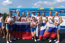 Калининградская спортсменка выиграла золото юниорского чемпионата Европы по гребле