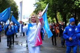 На острове Канта в Калининграде стартовала Эстафета огня Универсиады-2019