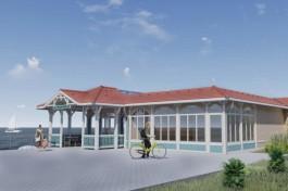 В посёлке Лесном на Куршской косе начали реконструировать кафе на променаде