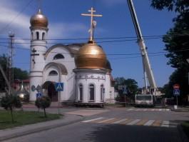 В Гурьевске поменяют купол храма Вознесения Господня