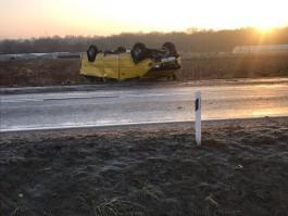 В Зеленоградском округе перевернулся микроавтобус: троих пассажиров госпитализировали