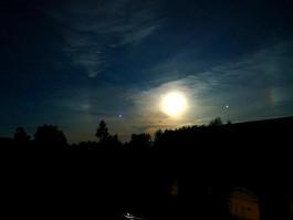 В небе над Калининградской областью заметили лунное гало