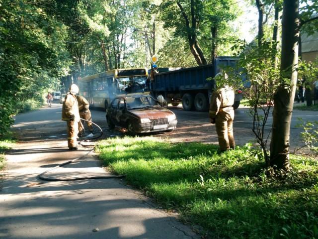 За прошлые сутки вКалининграде сгорело несколько машин
