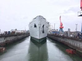 Научно-исследовательское судно «Витязь» прибыло на ремонт в Светлый