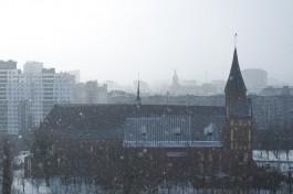 Метеорологи прогнозируют небольшой снег на рабочей неделе в Калининграде