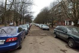 На улице Соммера в Калининграде планируют убрать стихийную парковку