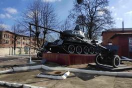 Военнослужащие Балтфлота начали подготовку танка Т-34 к параду Победы в Калининграде
