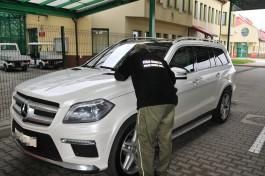 На границе арестовали «Мерседес» из Калининградской области стоимостью более 3 млн рублей