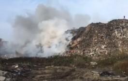 В посёлке Круглово горит свалка бытовых отходов