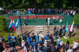 «Подъём с переворотом»: на Верхнем озере в Калининграде открыли площадку для турникменов