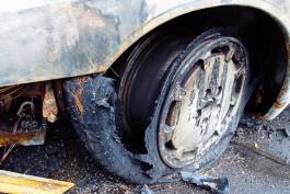 На трассе Талпаки — Большаково на ходу загорелся автомобиль