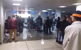 В зоне регистрации аэропорта «Храброво» протекла крыша