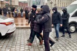 На несанкционированной акции в центре Калининграда задержали несколько человек