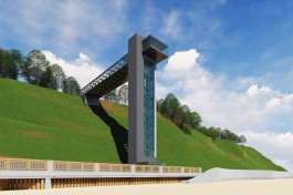 Власти Светлогорска показали, как будет выглядеть лифт у «Янтарь-холла»