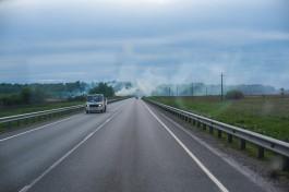 В Калининградской области снова участились возгорания травы