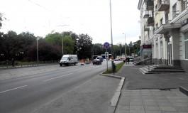 На проспекте Мира в Калининграде убрали брусчатку c пешеходных переходов