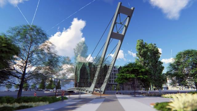 В Калининграде выдали разрешение на строительство пешеходного моста на остров Канта