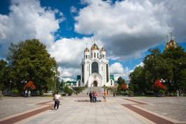 Власти Калининграда передали РПЦ газоны и урны на территории под памятник князю Владимиру
