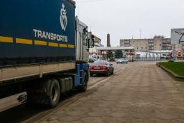 В Литве скопились огромные очереди из грузовиков на въезд в Калининградскую область