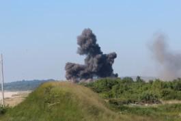 Саперы Балтфлота взорвали на полигоне «Хмелёвка» около 10 тысяч боеприпасов времён ВОВ