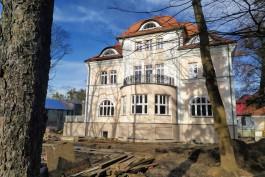 На улице Кутузова в Калининграде завершают реставрацию немецкой виллы Яфа