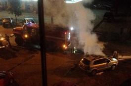 Ночью на ул. Леонова в Калининграде сгорел кроссовер «Хёндай»