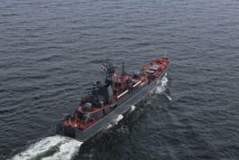 Десантные корабли Балтфлота выполнили артиллерийские стрельбы