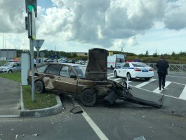 УМВД об аварии в Холмогоровке: «Фольксваген» не уступил дорогу машине полиции с включёнными сигналами
