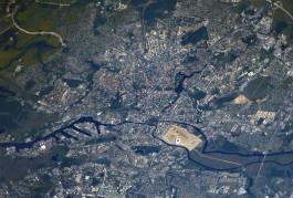 Космонавт Сергей Рязанский опубликовал фото Калининграда с МКС